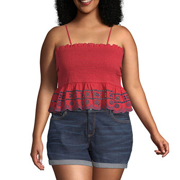 52742aaba6b5 Arizona Solid Tank Tops Tops for Women - JCPenney