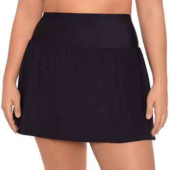 Sonnet Shores High Waist Womens Swim Skirt Plus