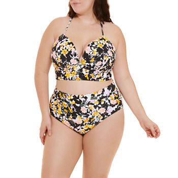 Decree Plus Floral Bra and High Waist Bikini Bottom