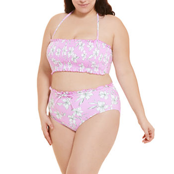 Decree Plus Floral Bandeau and High Waist Bottom