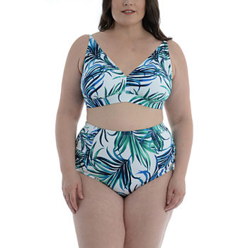 Sonnet Shores Plus Bra Top and Shirred High Waisted Bottom