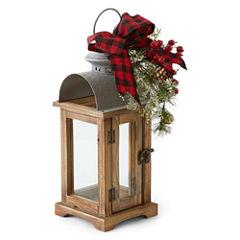 North Pole Trading Co. Winter Lodge Winter Lodge Wood Decorative Lantern