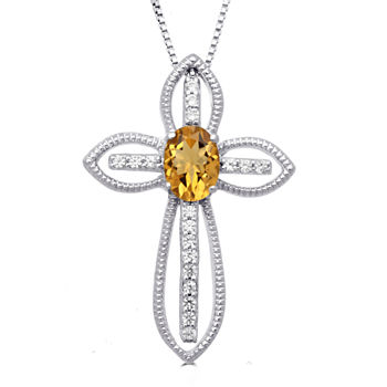 Citrine cross fine necklaces pendants for jewelry watches jcpenney 6249 aloadofball Gallery