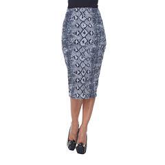White Mark Cynthia Pencil Skirt