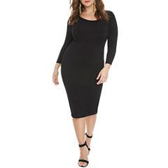 Fashion To Figure The Everyday Midi Bodycon Dress-Plus