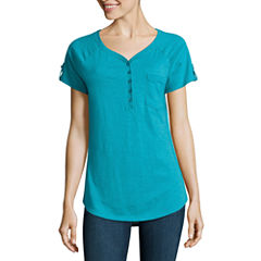 SJB Active Short Sleeve V Neck T-Shirt-Womens