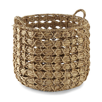 Enchante Large Natural Round Basket