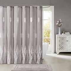 Madison Park Sabrina Embroidered Shower Curtain