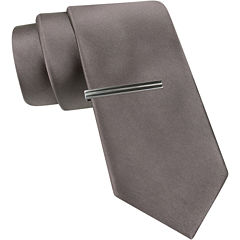 JF J. Ferrar® Slim Satin Tie and Tie Bar Set