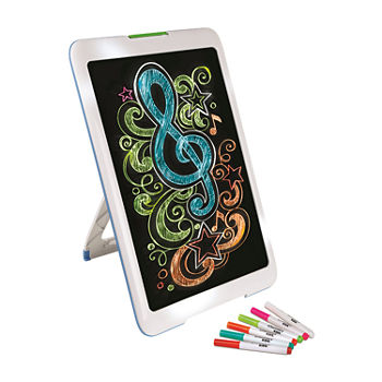 Discovery Kids Neon Glow Drawing Easel w/Color Markers