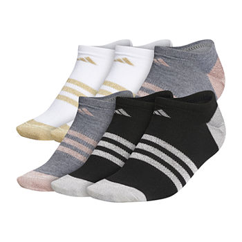 adidas Superlite Shine 6 Pair No Show Socks Womens