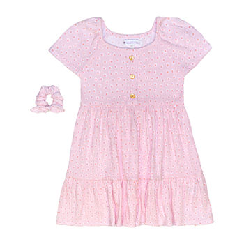 Nannette Baby Toddler Girls Short Sleeve Striped A-Line Dress