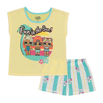 LOL Surprise! Little & Big Girls 2-pc. LOL Shorts Pajama Set