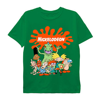 Nickelodeon Rugrats Little & Big Boys Crew Neck Short Sleeve Graphic T-Shirt