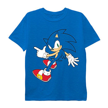 Little & Big Boys Crew Neck Sonic the Hedgehog Short Sleeve Graphic T-Shirt