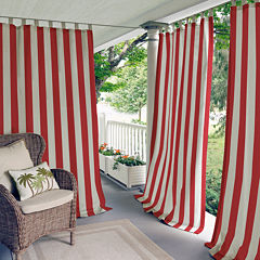 Highland Stripe Indoor/Outdoor Tab-Top Curtain Panel