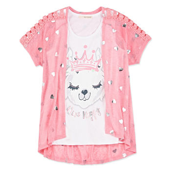 d9e8e625203e Arizona Girls Round Neck Long Sleeve Graphic T-Shirt Preschool. Add To  Cart. New. plus size available