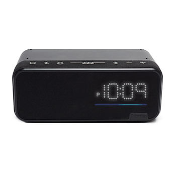 iHome Voice Bluetooth Bedside/Home Office Clock/Speaker System with Alexa Built-in Far Field Voice Control Service
