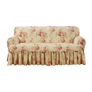 Enjoyable Sure Fit Ballad Bouquet 1Pc Loveseat Slipcover Machost Co Dining Chair Design Ideas Machostcouk