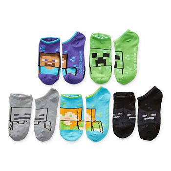 Little & Big Boys 5 Pair No Show Socks
