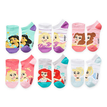 Little & Big Girls 6 Pair No Show Socks