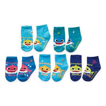 Little Boys 5 Pair Quarter Socks