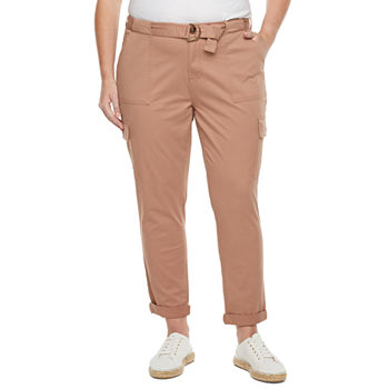 Liz Claiborne Womens Straight Cargo Pant-Plus