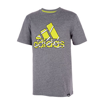 adidas Big Boys Round Neck Short Sleeve T-Shirt