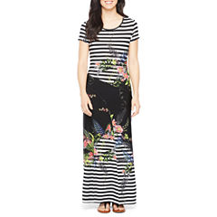 Ronni Nicole Short Sleeve Maxi Dress