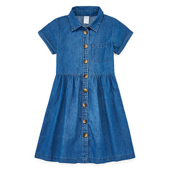 a9b756d99 Arizona Girls Short Sleeve Cap Sleeve Shirt Dress