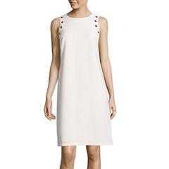 Worthington® Sleeveless Grommet-Shoulder Shift Dress