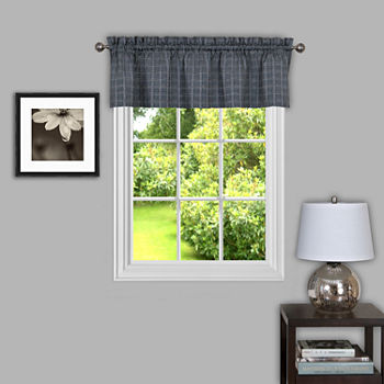 Sydney Plaid Rod-Pocket Kitchen Valance