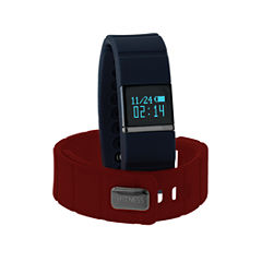 Ifitness Ifitness Activity Tracker Black/Navy And Red Interchangeable Band Unisex Multicolor Strap Watch-Ift5416bk668-Rdn