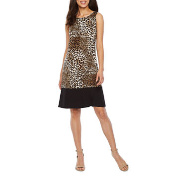 fe660f233361a Ronni Nicole Sleeveless Animal Shift Dress