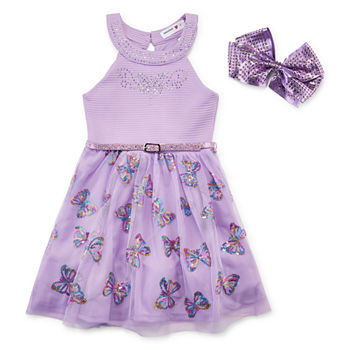 b43661084e39e Knit Works Embellished Sleeveless Party Dress Girls. Add To Cart. New. Lilac