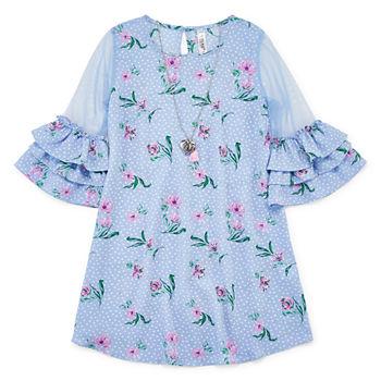 b1de717b21fa0 Knit Works Swing Dresses 3/4 Sleeve Swing Dresses Girls - Big Kid