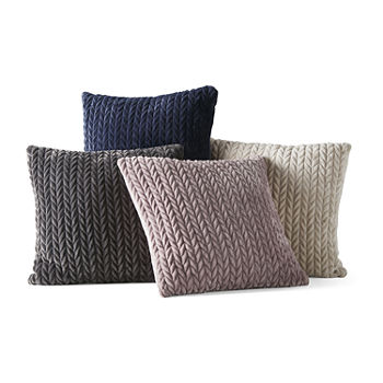 Loom + Forge Chevron Mink Square Throw Pillow