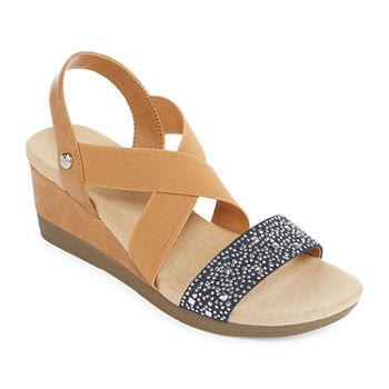 6ee626bc9614 Wedge Sandals Blue All Women s Shoes for Shoes - JCPenney
