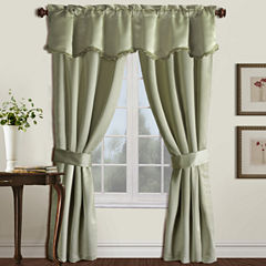 United Curtain Co. Burlington 5-Piece Blackout Rod-Pocket Curtain Set