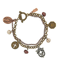 1928 Symbols Of Faith Religious Jewelry Womens Charm Bracelet