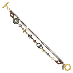 1928 Symbols Of Faith Religious Jewelry Womens 7 3/4 Inch Chain Bracelet
