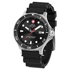 Swiss Military By Charmex Diving Mens Black Strap Watch-79292_9_E