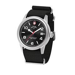 Swiss Military By Charmex Vintage Mens Black Strap Watch-78335_8_B