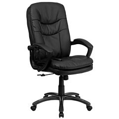 Leather Contemporary High Back Office Chair