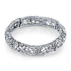 1928® Jewelry Crystal Silver-Tone Stretch Bracelet