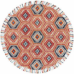 Room Envy Calendra Geotric Hand Tufted Round Rugs