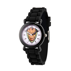 Guardian Of The Galaxy Marvel Boys Black Strap Watch-Wma000148