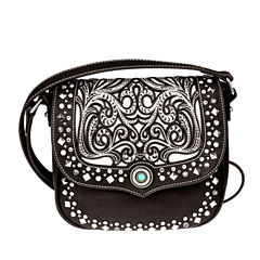 Montana West Ella Laser-Cut Flap Crossbody Bag