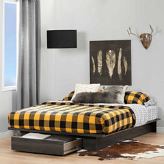 South Shore Holland Full-Queen Platform Bed with Drawer