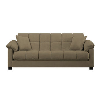 Taylor Pillow Top Arm Microfiber Convert A Couch